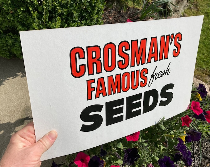 Vintage Advertising Sign: Crosman Seed Co., East Rochester, NY