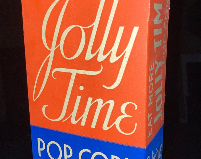 Vintage 1939 Jolly Time Popcorn Movie Theater Box; Old Stock, Never Used!
