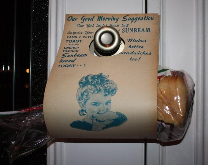 Vintage Sunbeam Bread Delivery NOS Door Hanger Advertisement