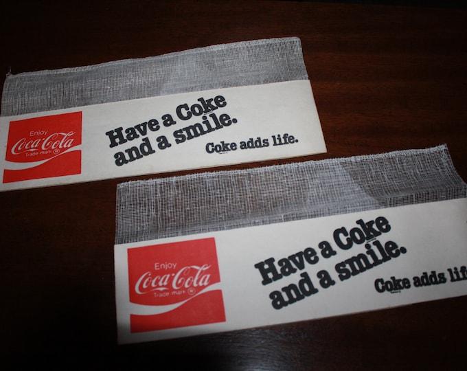 2 Vintage 1970s Coca Cola Paper Hats; Old Stock Coke Soda Jerk Restaurant Hat