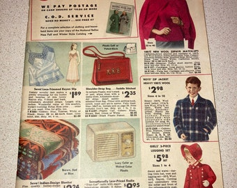 1948 National Bellas Hess 92 Page Bargains Catalog; Fashions, Household, Shoes, Radios