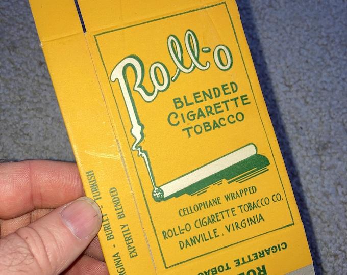 Roll-0 Cigarette Tobacco, Danville Virginia Never Used Box! Vintage 1920s Old Stock