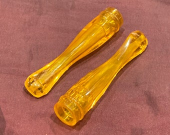 Set of 2 Vintage 1940's - '50s Amber Cigarette Holders, Old Stock, Never Used, Authentic NOS