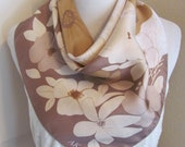 Anne Klein Beautiful Brown Beige Soft Silk Scarf 22 quot Inch 51cm Square