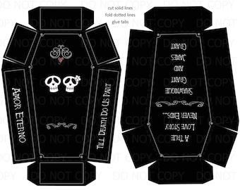 printable coffin box etsy