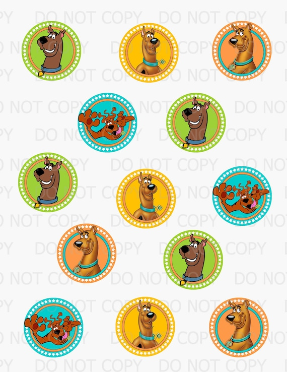 picture regarding Scooby Doo Printable named Printable Do-it-yourself Scooby Doo Topic Cupcake Toppers or Tag pictures