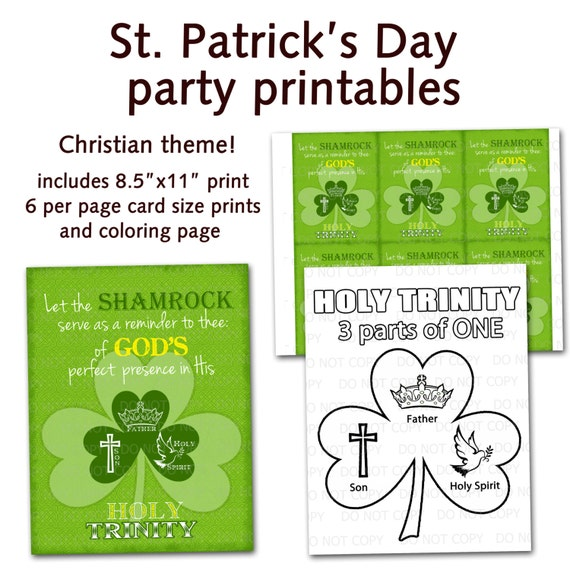 Printable DIY St. Patrick\'s Day Christian Religious Party