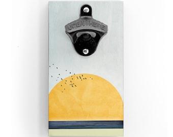 Wandflaschenöffner - Sun - mit Magnet