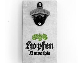 Wandflaschenöffner - Hopfen Smoothie - mit Magnet