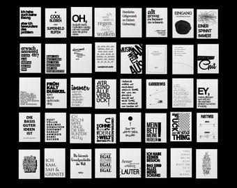 40 Postkarten mit lustigen Sprüchen, Coole Karten für jede Situation: Arbeit, Party, Alter, Stress, Motivation, Familie, Gelassenheit, Glück