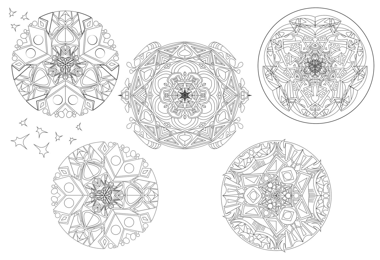 Stampa disegni da colorare 5 mandela disegno geometrico etsy for Stampa disegni da colorare