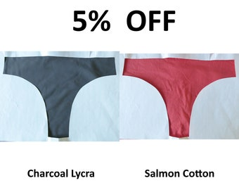 51afa6f6c42b LeoLines, LLC ™ 5% Off - LIMITED COLORS Charcoal Lycra and Salmon Cotton  Panties Underwear Made for Transgender Girls/Women M2F mtf