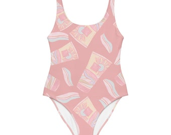 Pink Summer One-Piece Swimsuit