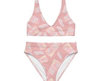 Pink Summer high-waisted bikini