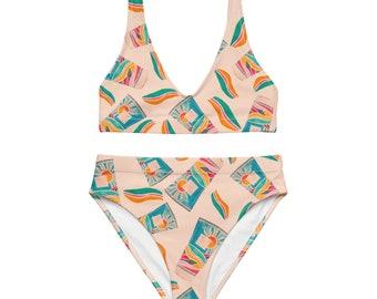 Vintage Summer high-waisted bikini