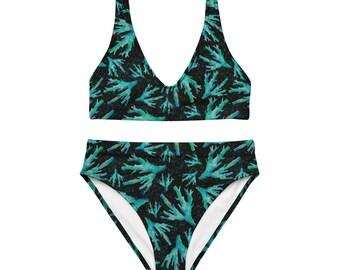 Black Coral high-waisted bikini