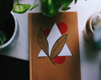 Discounted Abstract Hand-painted Lined Journal