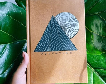 Discounted Adventure Hand-painted Dotted Journal