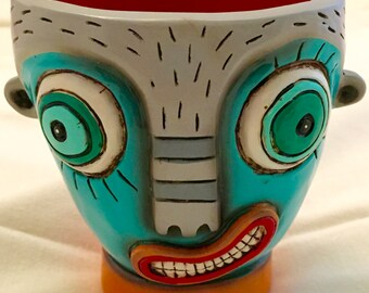 Hand Painted face cup