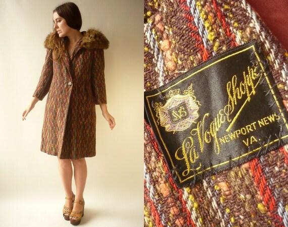 1940's 1950's Vintage Tweed Wool Princess Swing Co