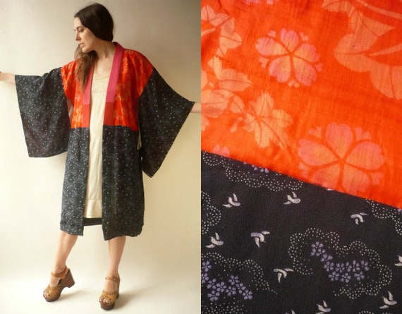 1920's Vintage Antique Patchwork Silk, Rayon & Cot