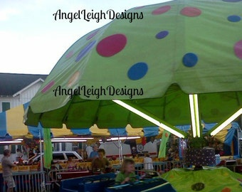 Green Ride digital download, county fair, illustration, carnival, cars