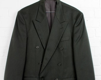 Vintage 1980s Mens Burton Double Breasted Suit Jacket