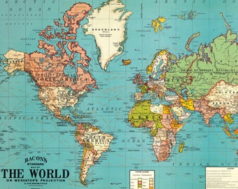 graphic regarding Printable Map of World named Entire world map printable Etsy