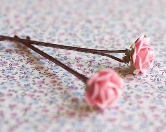 Rose hairpins pack.Flower hairpins. Bridesmaid hair pin.Bridesmaid headpiece.Hair accessories.Spring Wedding  HairPins.Bridal accessories.