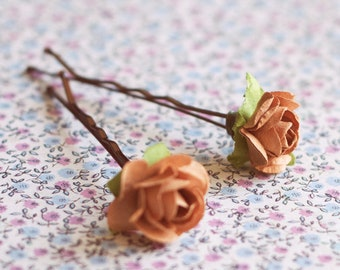 Flower Hair pins. Bridesmaid headpiece. Hair pin accessories for vintage Weeding. Bridal accessories. Rose hairpins pack. Vintage hair pins