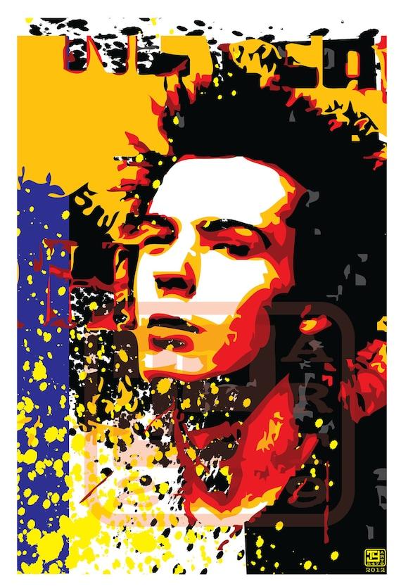 Wall Art Home Decor Punk Rock Sid Vicious Pop Art Print