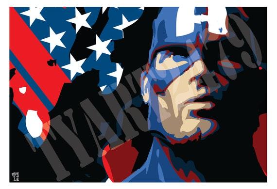 Wall Art Home Decor Marvel Comics Avengers Captain America Pop art poster print
