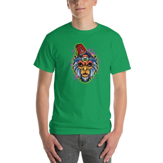 Short Sleeve 3 Eyes Capuchin Monkey T-Shirt by the COLORBLiND ARTiST