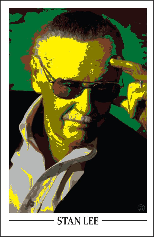 Wall Art Home Decor Marvel Comics Stan Lee Pop Art poster | Etsy