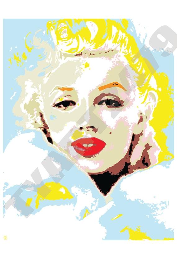 Wall Art Home Decor Marilyn Monroe Pop Art Print.