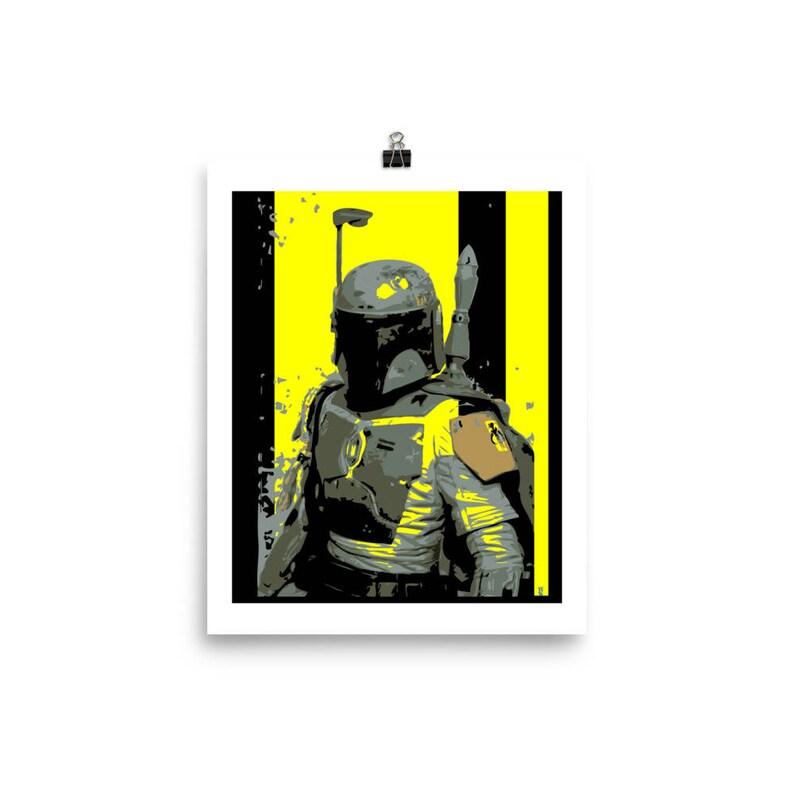Boba Fett Star Wars Wall Art Home Decor Pop Art Prints image 0