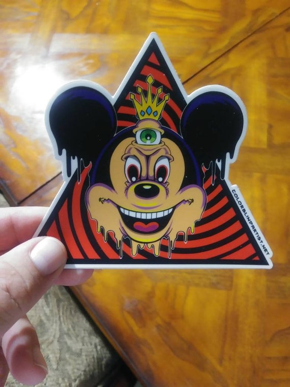 Green Eye Monster Vinyl Sticker Mickey Parody