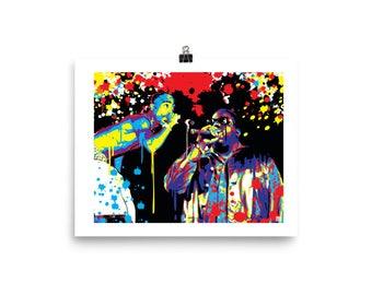 Tupac & Biggie Pop Art Home Decor Print