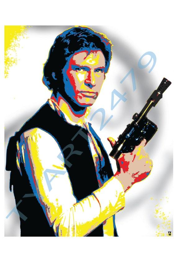 Wall Art Home Decor Han Solo Star Wars Pop Art Print.