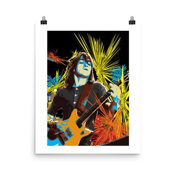 Malcolm Young AC/DC Guitarist Pop Wall Art Home Decor Print
