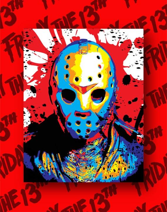 Jason Friday the13th Horrific Pop Art Print