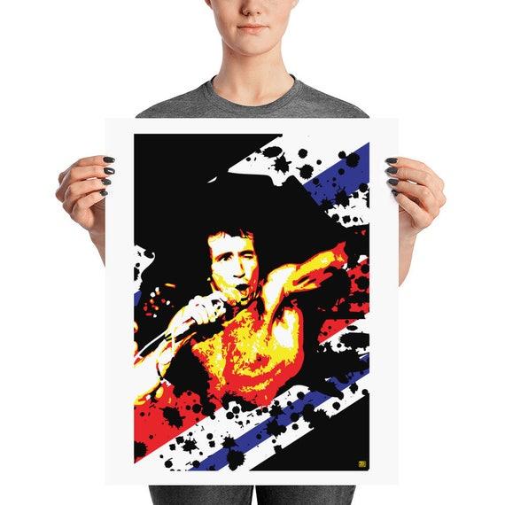 Bon Scott AC/DC Singer Hard Rock Pop Art Home Decor Prints