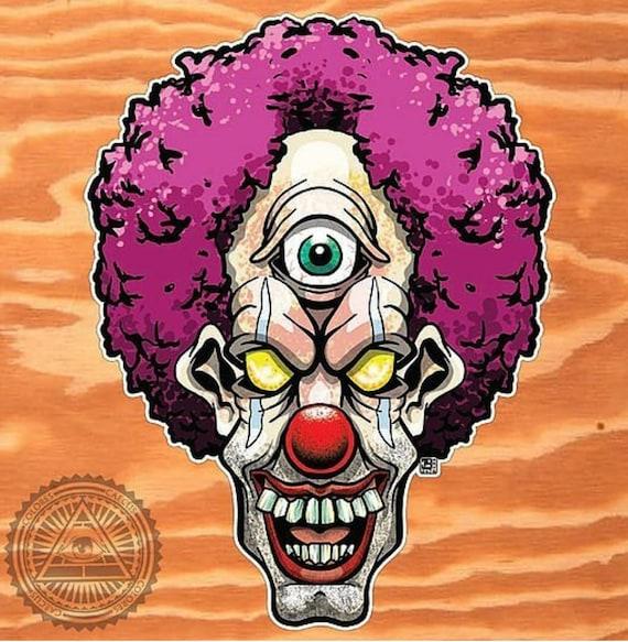 Blinky the clown vinyl die cut stickers