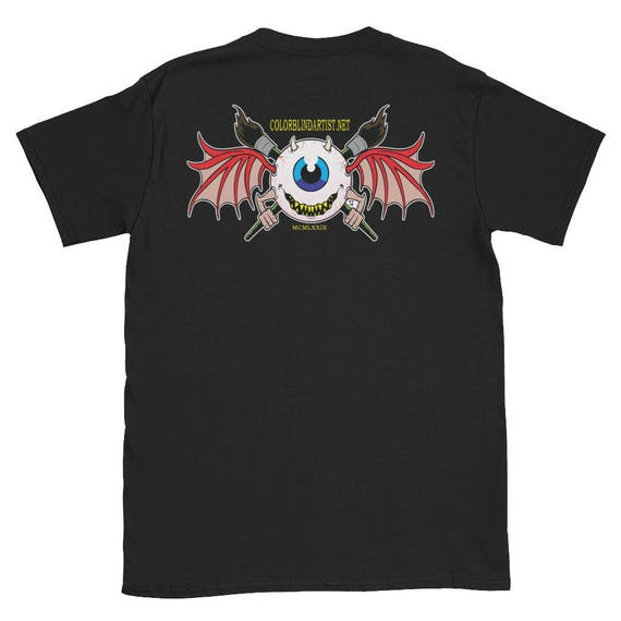 Flying Devil Eye COLORBLiND ARTiST T-Shirt