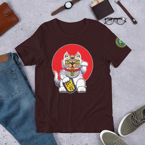 Lucky Cat T-Shirt, Kawaii Clothing, Maneki Neko, Japanese Shirt, Kanji Shirts, Japanese Style, Kawaii Shirts For Men, Unisex