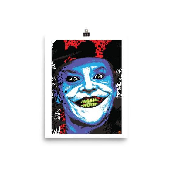 Jack Nicholson Joker Pop Wall Art Home Decor Prints