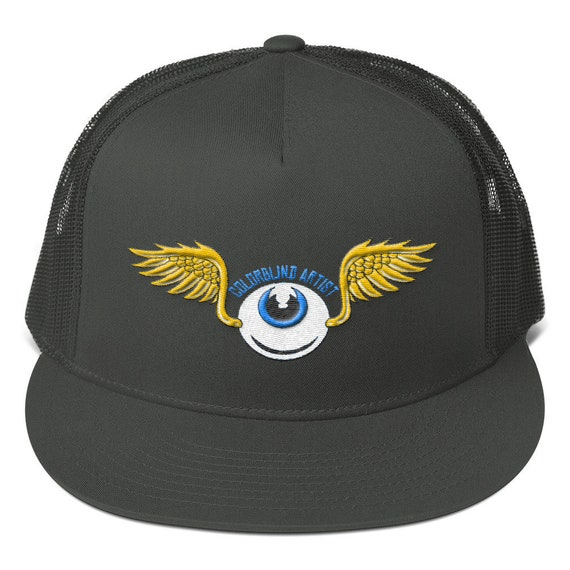COLORBLiND ARTiST Flying Eye Embroidered Mesh Back Snapback