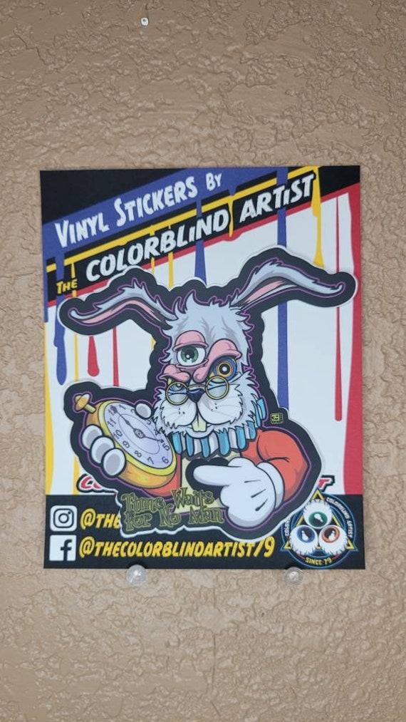 Trippy White Rabbit Alice in Wonderland Parody Third Eye