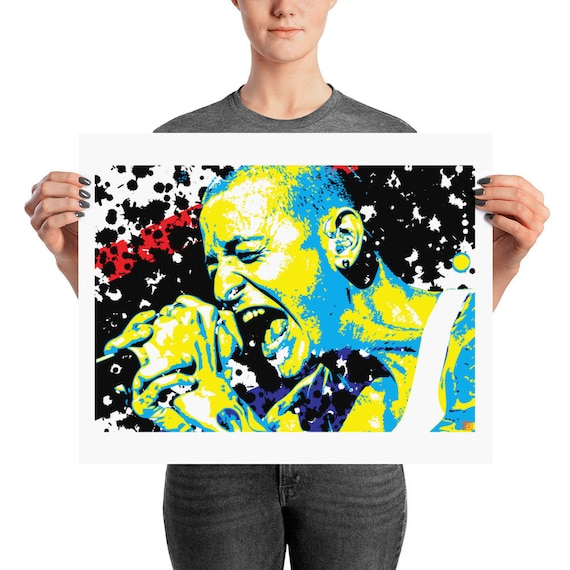 Chester Bennington Linkin Park Pop Art Prints
