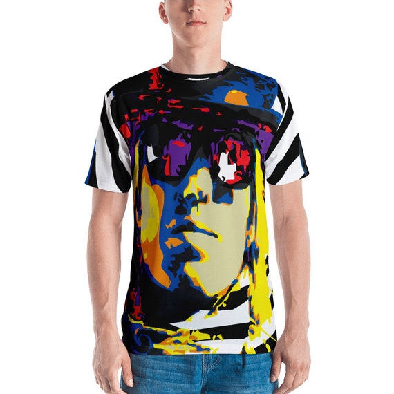 Tom Petty Mad Hatter All Over Printed Men's T-shirt